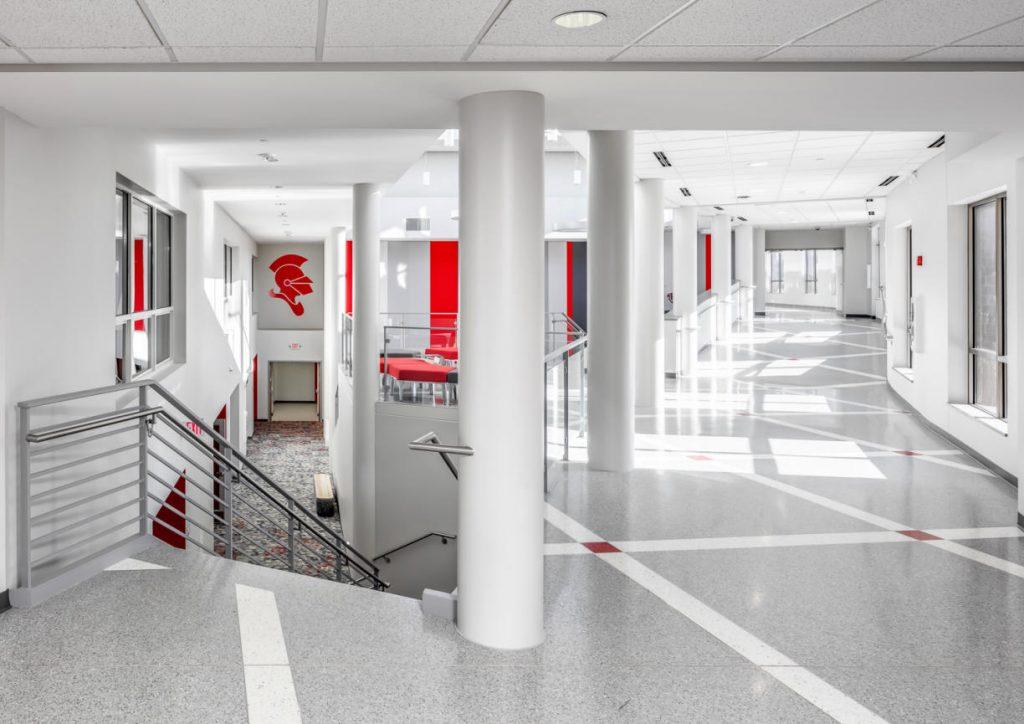 Benilde St. Margarets hallway addition by InUnison Design