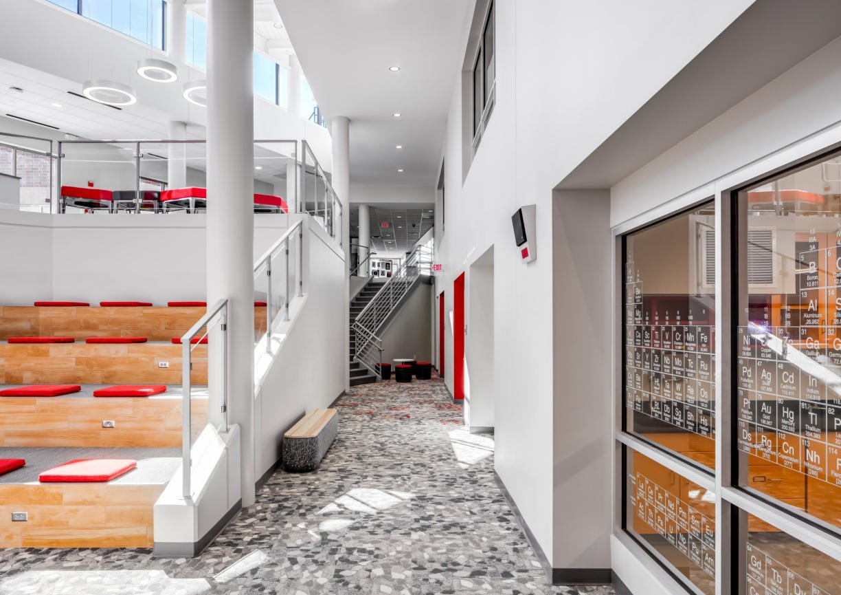 Benilde St. Margarets hallway addition by InUnison Design