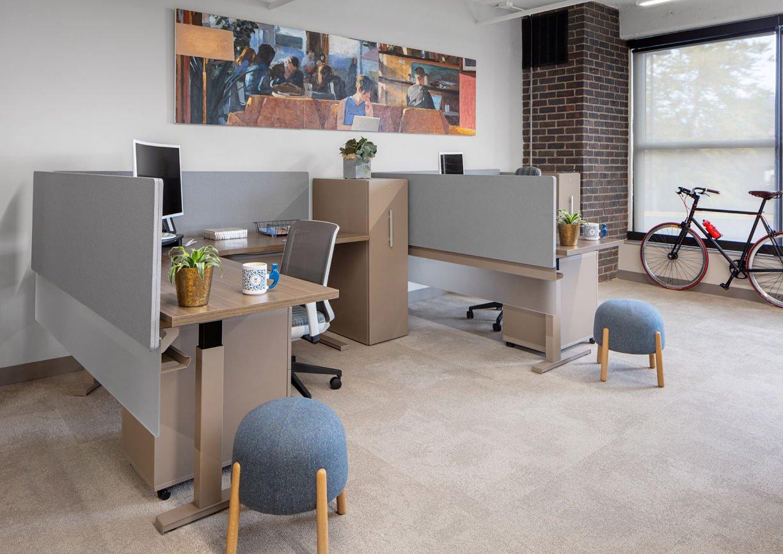 Work area in Eagle Ridge Partners Office