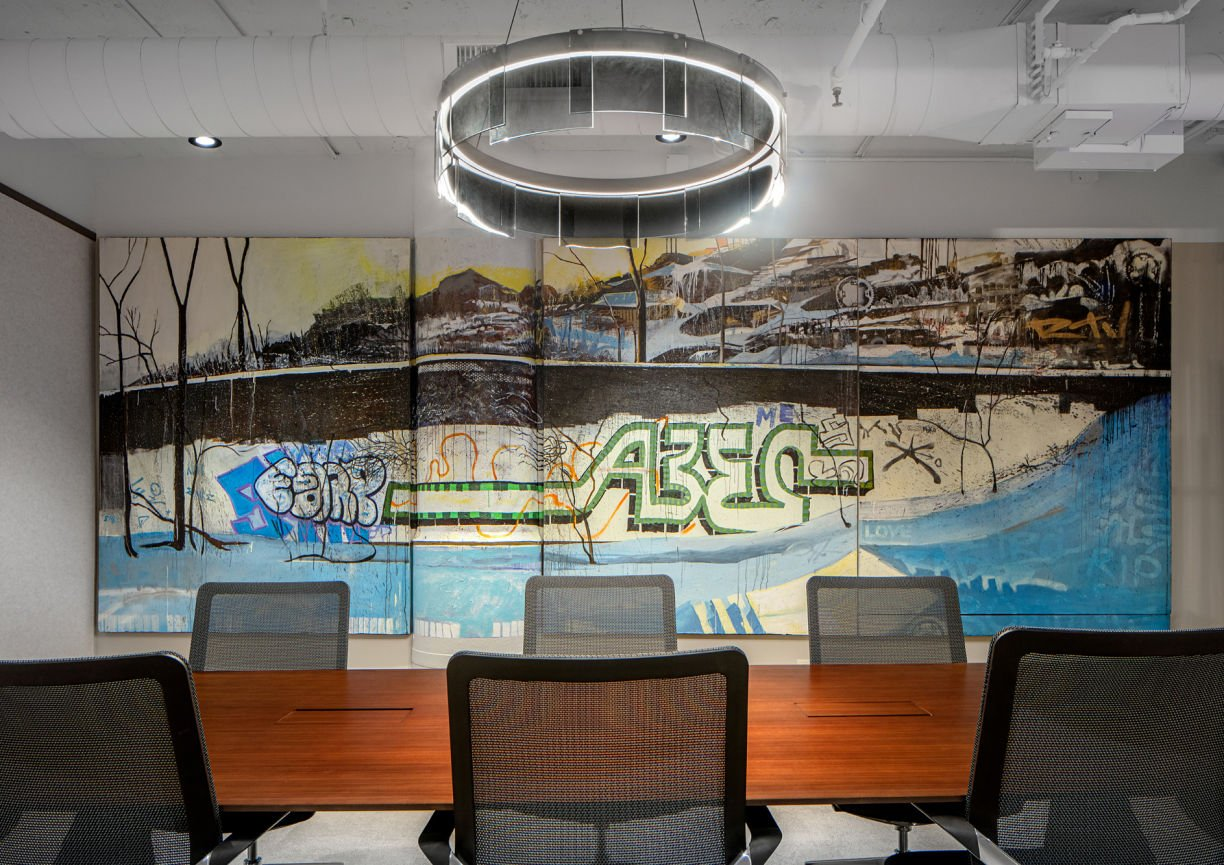 lighted mural in Eagle Ridge Partners Office