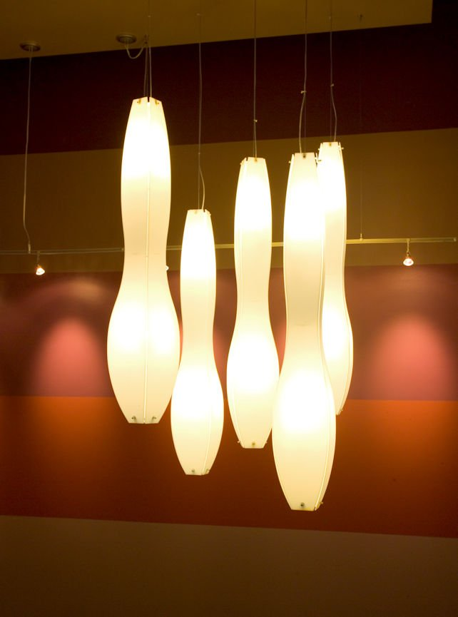 FIVE RESTAURANT lighting by Christine Frisk of InUnison Design