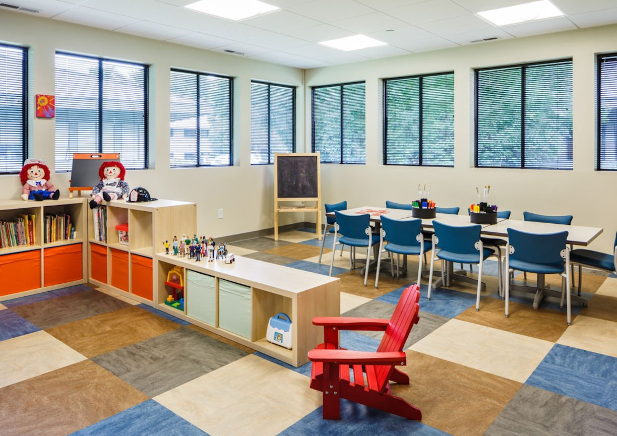 Gilda's Club Twin Cities playroom by Christine Frisk of InUnison Design