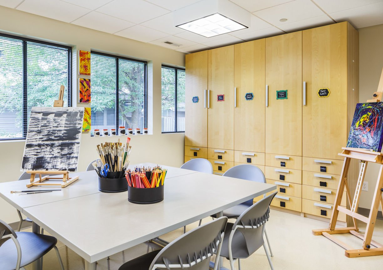 Gilda's Club Twin Cities crafts room by Christine Frisk of InUnison Design
