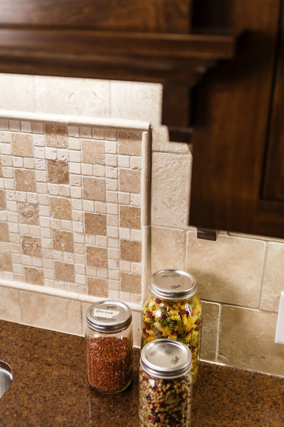 Gilda's Club Twin Cities kitchen backsplash by Christine Frisk of InUnison Design