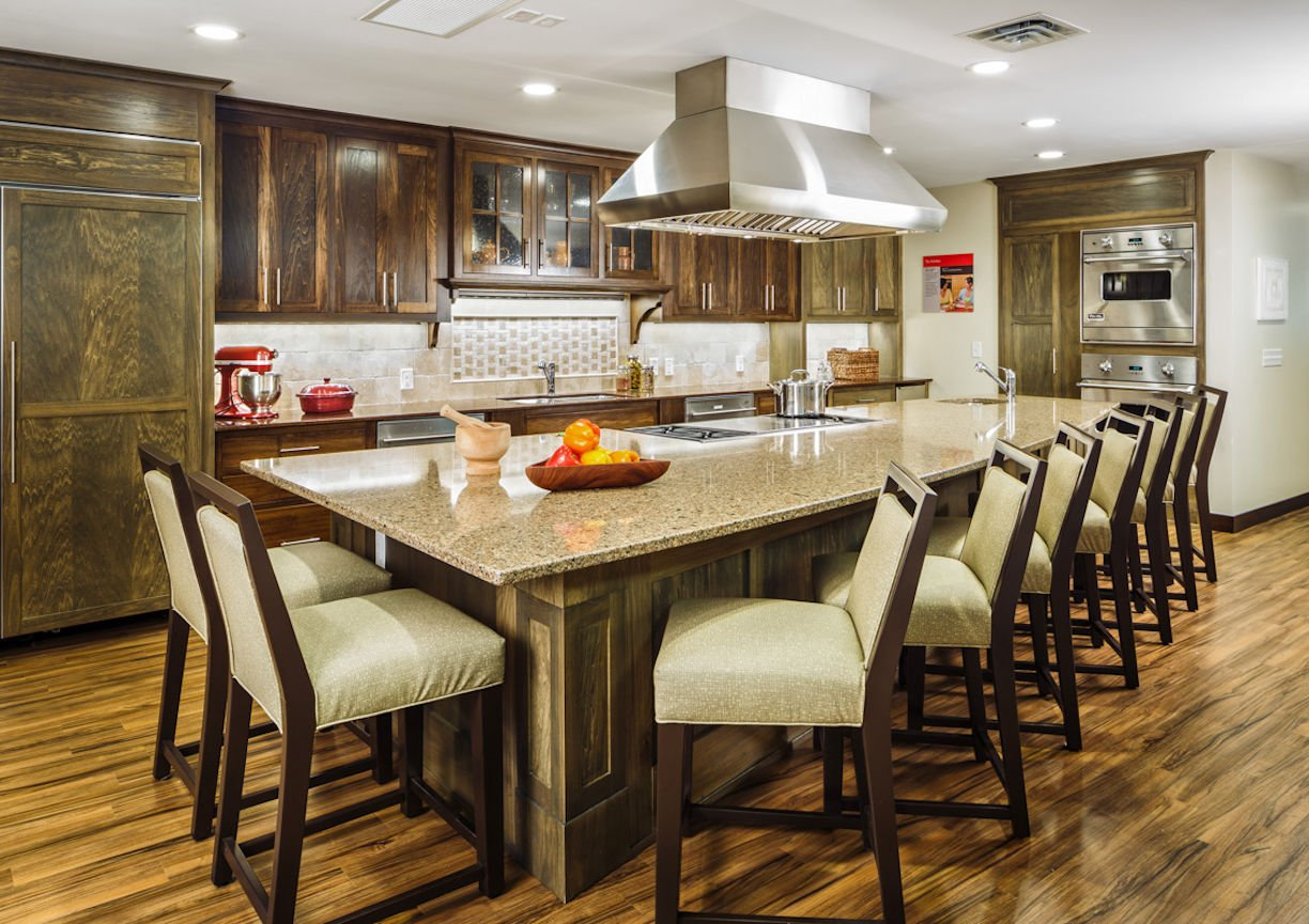 Gilda's Club Twin Cities kitchen island by Christine Frisk of InUnison Design