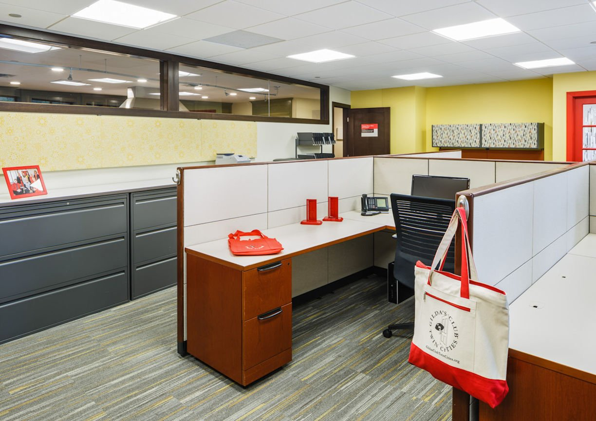 Gilda's Club Twin Cities office space by Christine Frisk of InUnison Design