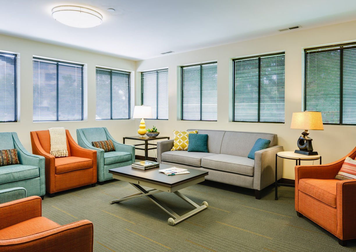 Gilda's Club Twin Cities waiting room by Christine Frisk of InUnison Design