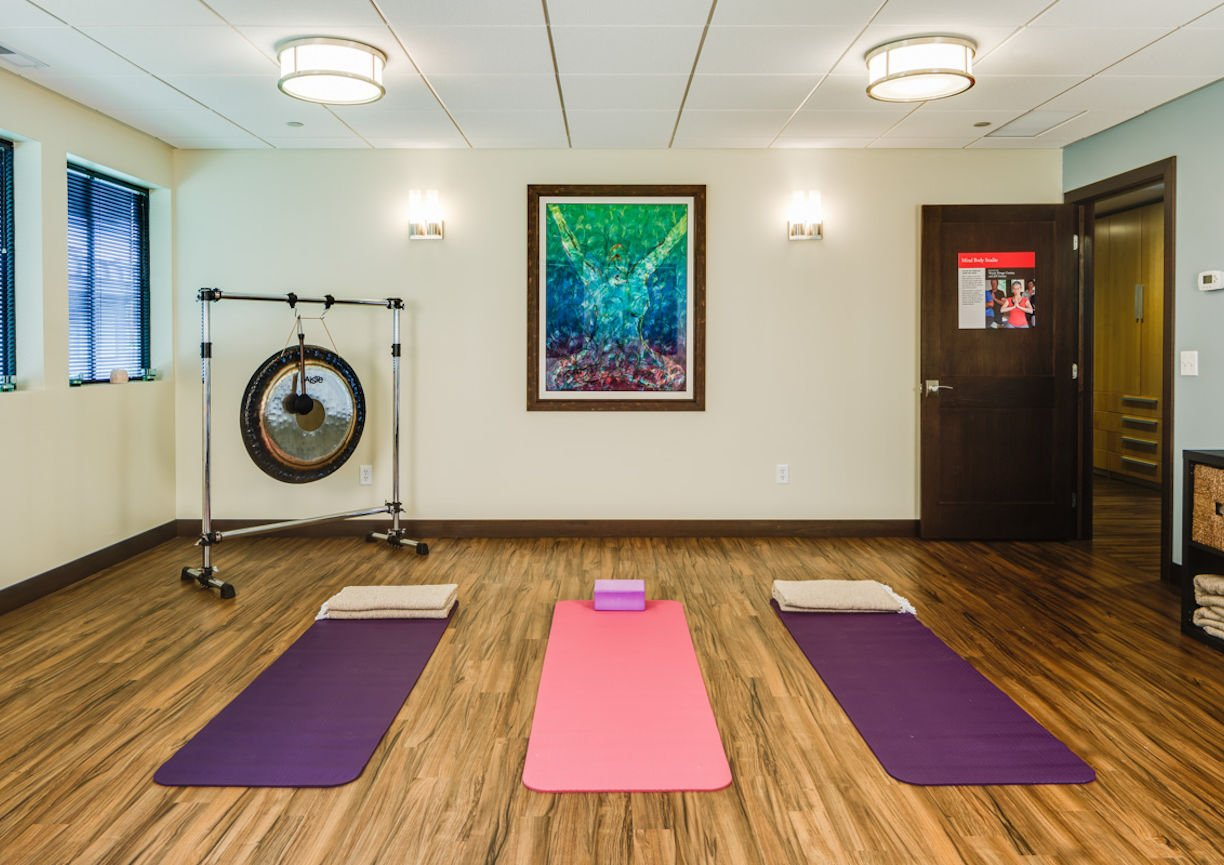Gilda's Club Twin Cities yoga room by Christine Frisk of InUnison Design