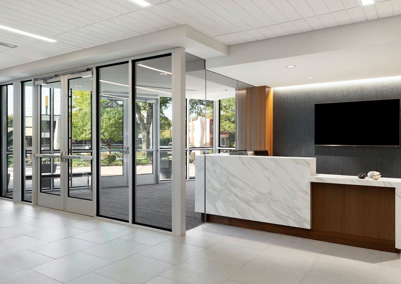 HUBBARD BROADCASTING reception desk by InUnison Design