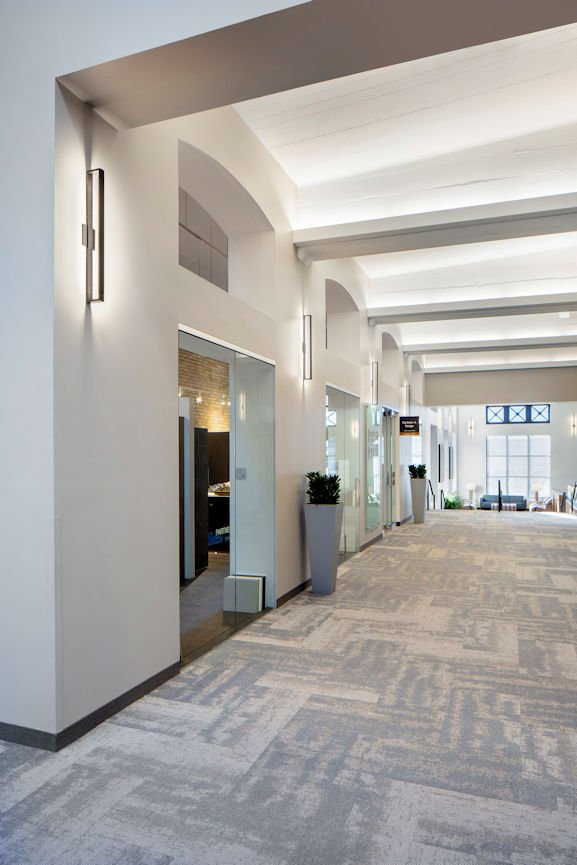 International Market Square hallway by InUnison Design