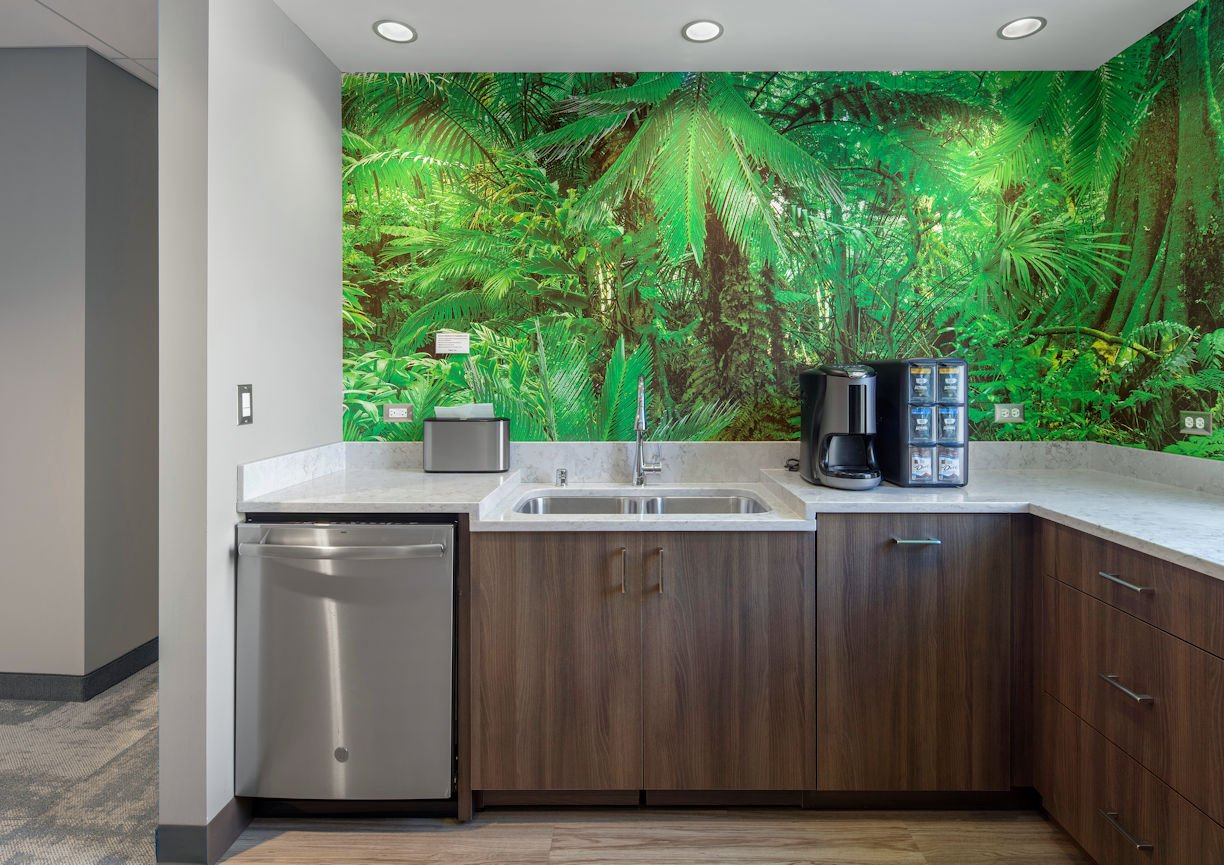 International Market Square break room by InUnison Design
