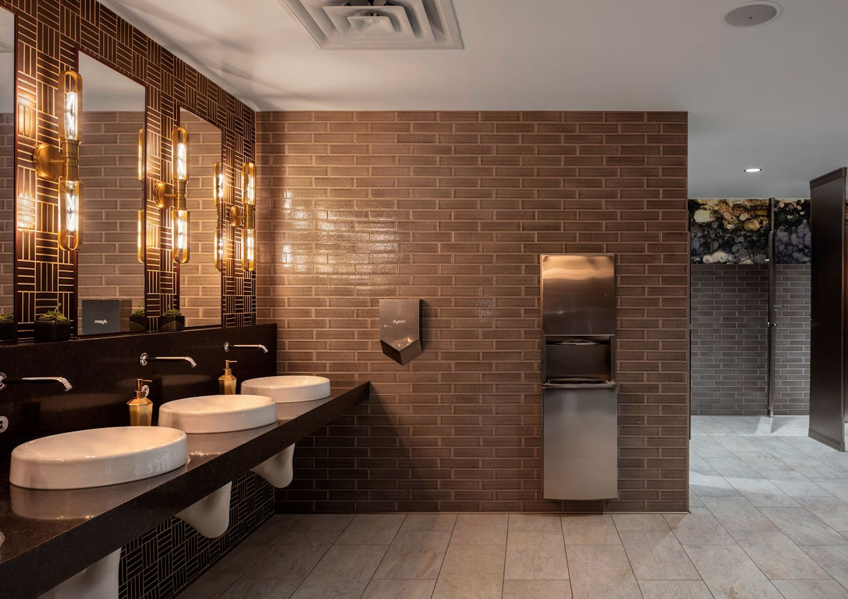 International Market Square bathroom by InUnison Design