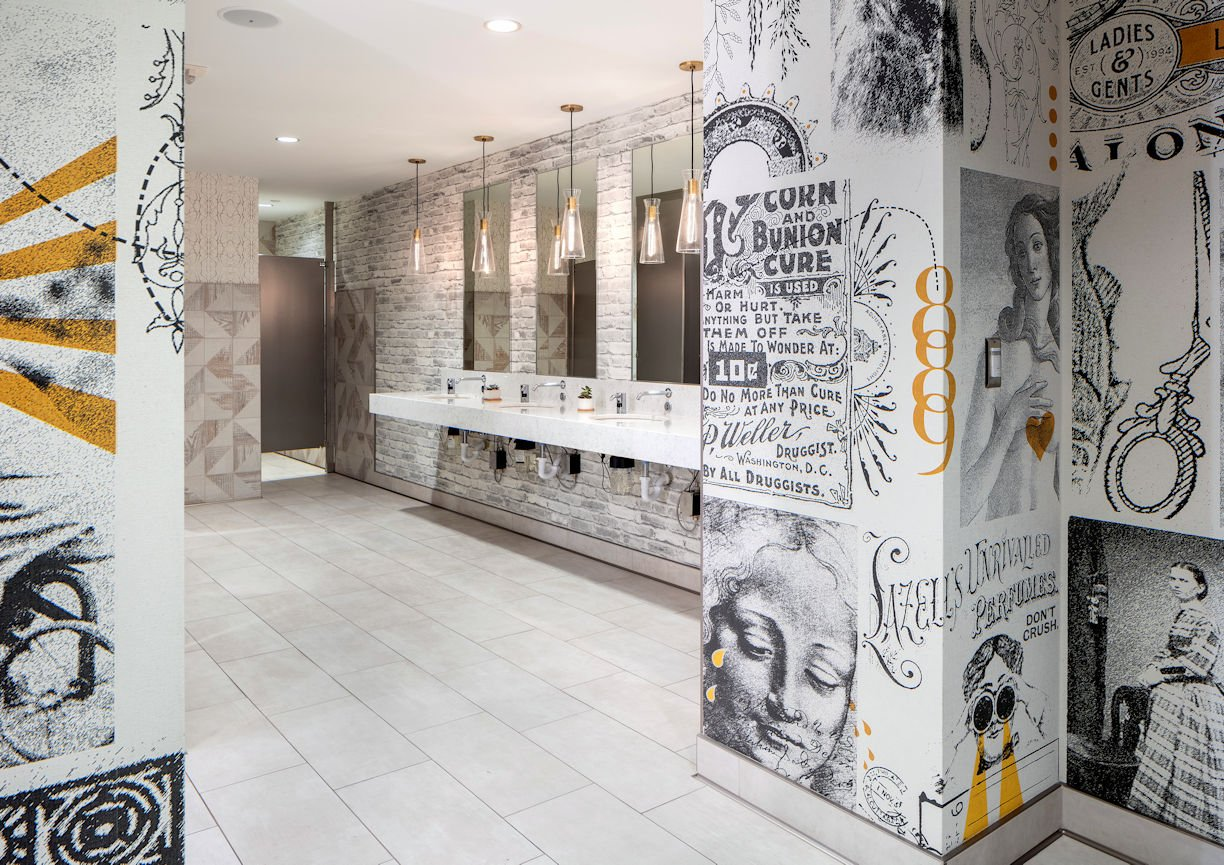 International Market Square washroom by InUnison Design