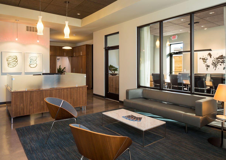 Matonich Law reception area by Christine Frisk of InUnison Design