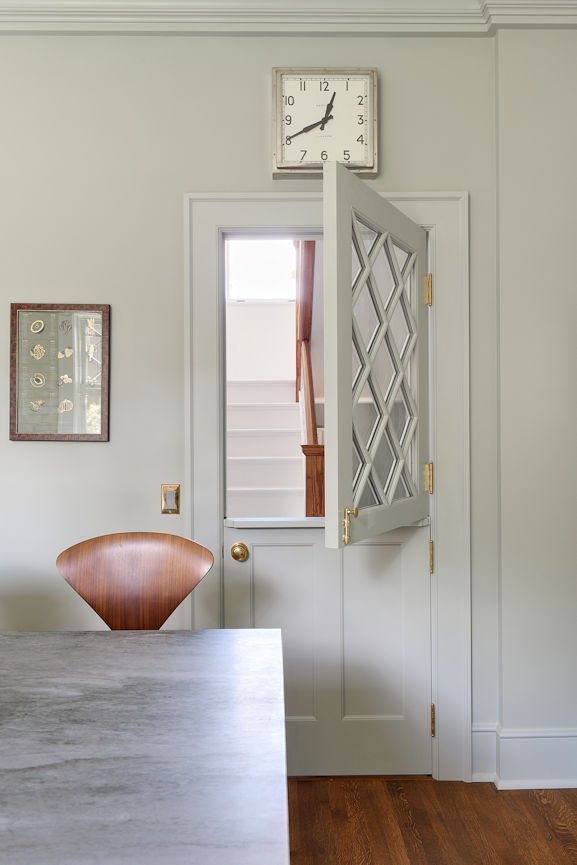 Mount Curve English Culinary split door detail by InUnison Design