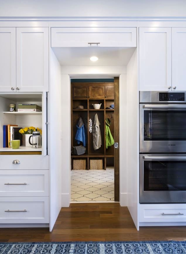 sustainable mudroom in Nordeast Nest by InUnison Design