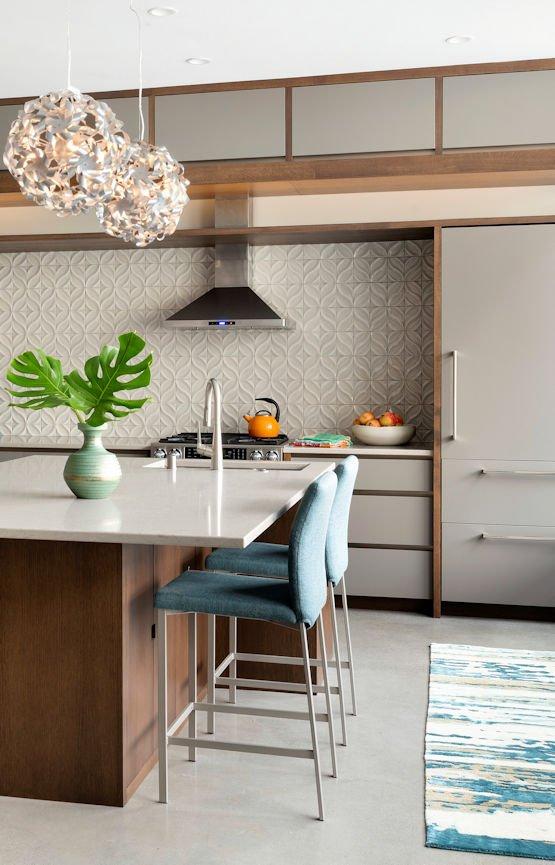 Bde Maka Ska condo kitchen by InUnison Design interior decorating