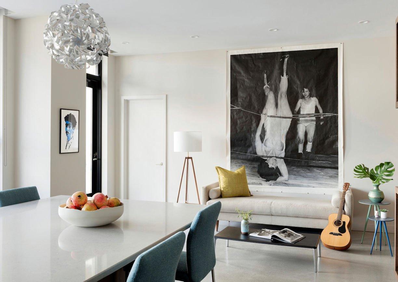Bde Maka Ska condo dining room by InUnison Design interior decorating