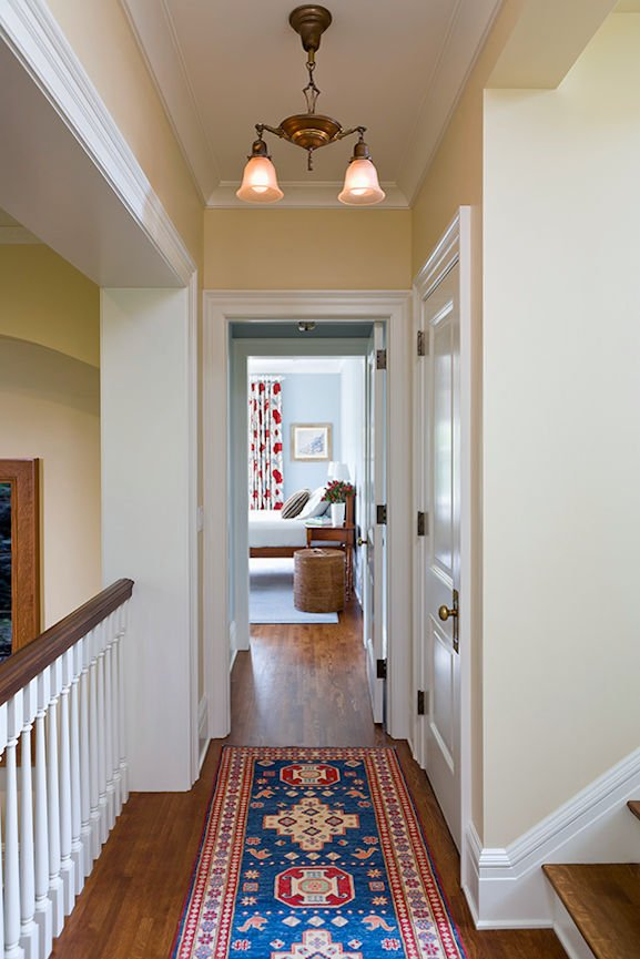 hallway runner inside Kenwood Residence by InUnison Design home interiors