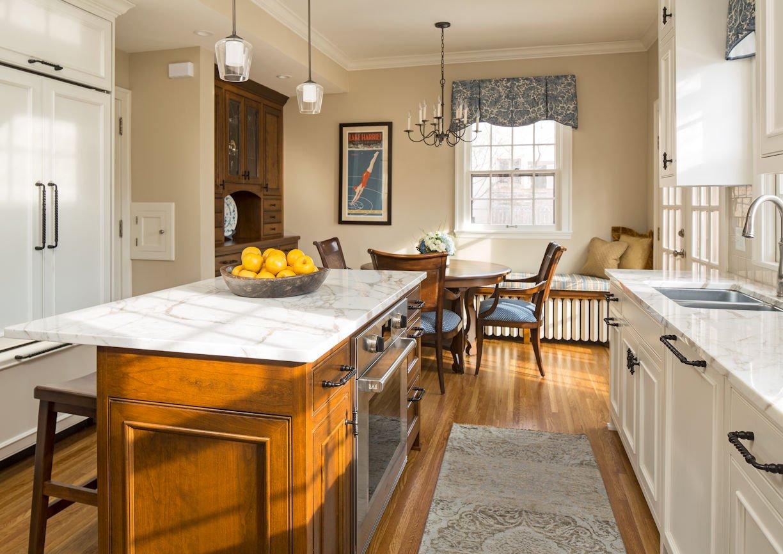Lake Harriet Tudor kitchen design by interior designer InUnison Design