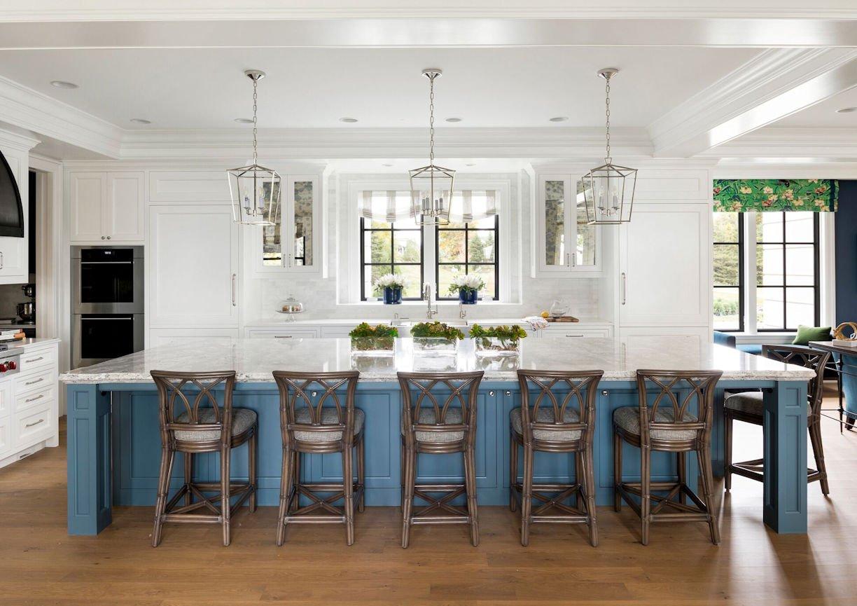 kitchen inside Lake Minnetonka Estate designed by InUnison Design
