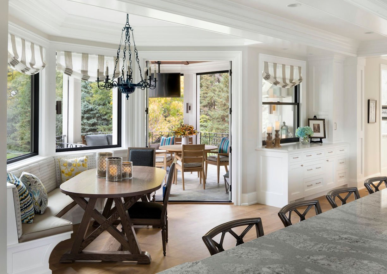 dining room inside Lake Minnetonka Estate designed by InUnison Design