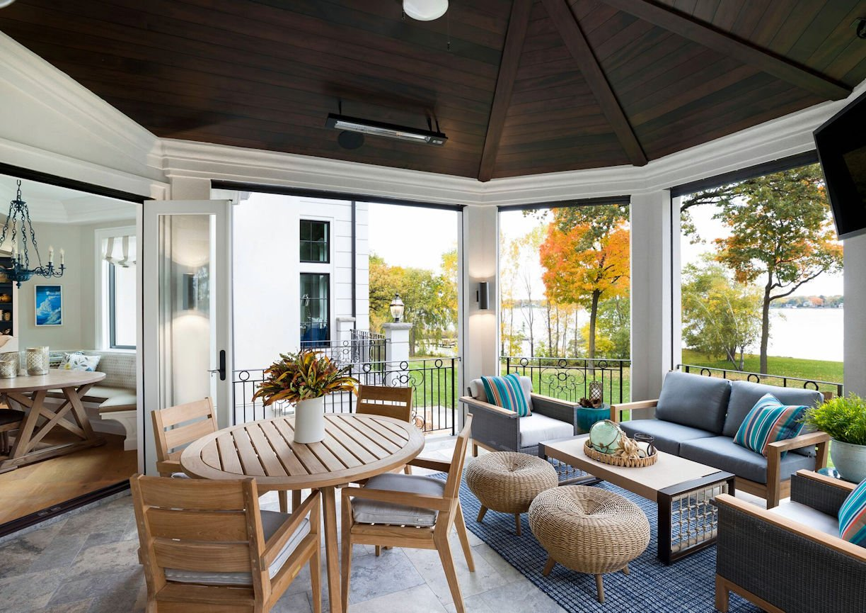 sunroom inside Lake Minnetonka Estate designed by InUnison Design