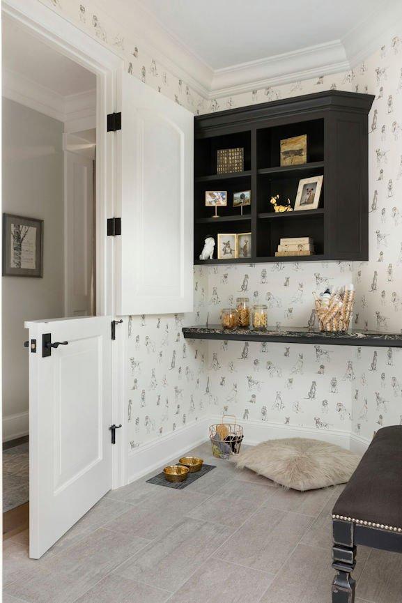 dog room inside Lake Minnetonka Estate designed by InUnison Design
