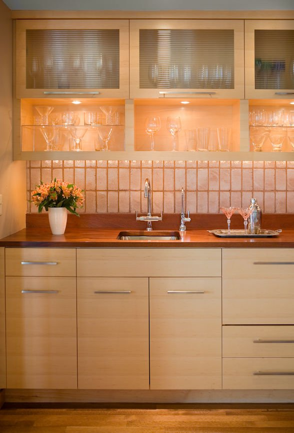 cabinet detail in Lake Minnetonka Peninsula home with interior design by InUnison Design