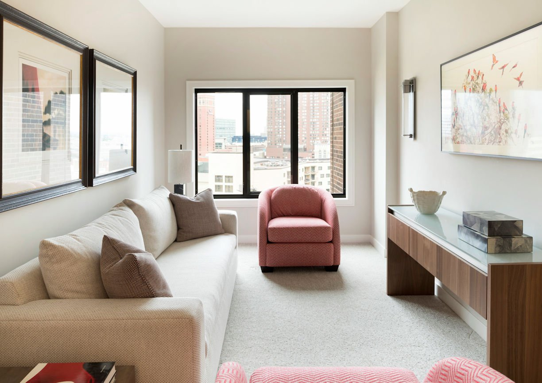 powder room in Minneapolis Condo by Christine Frisk of InUnison Design