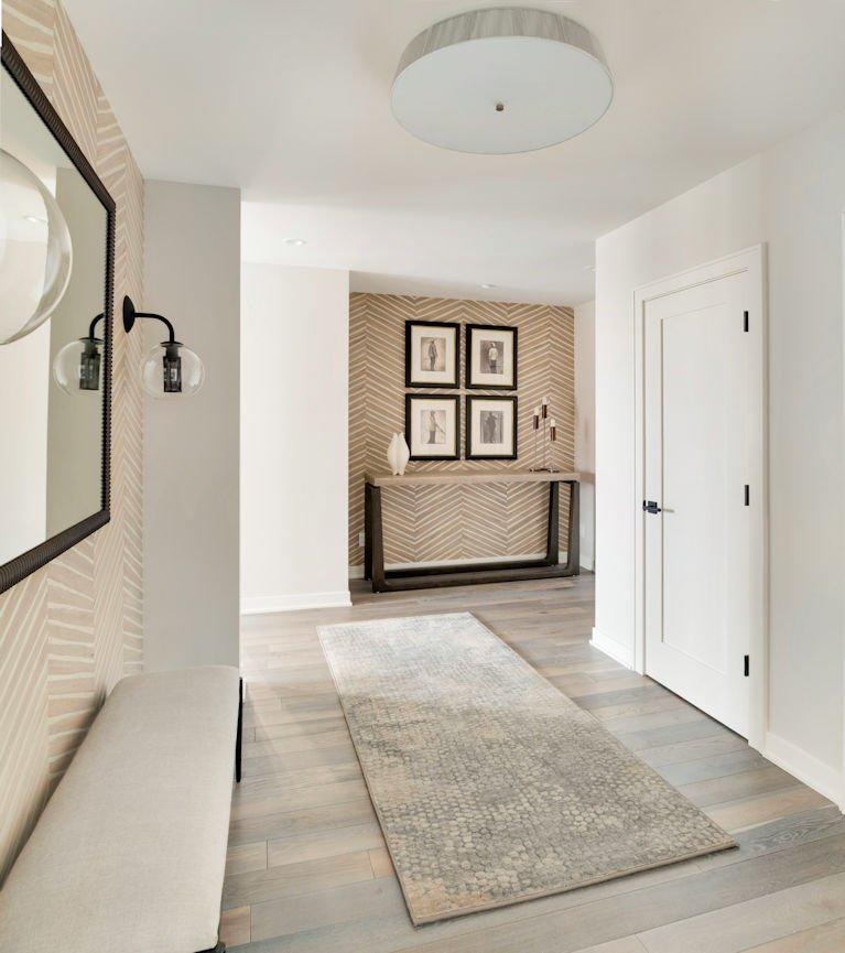 foyer of Minneapolis Condo by Christine Frisk of InUnison Design