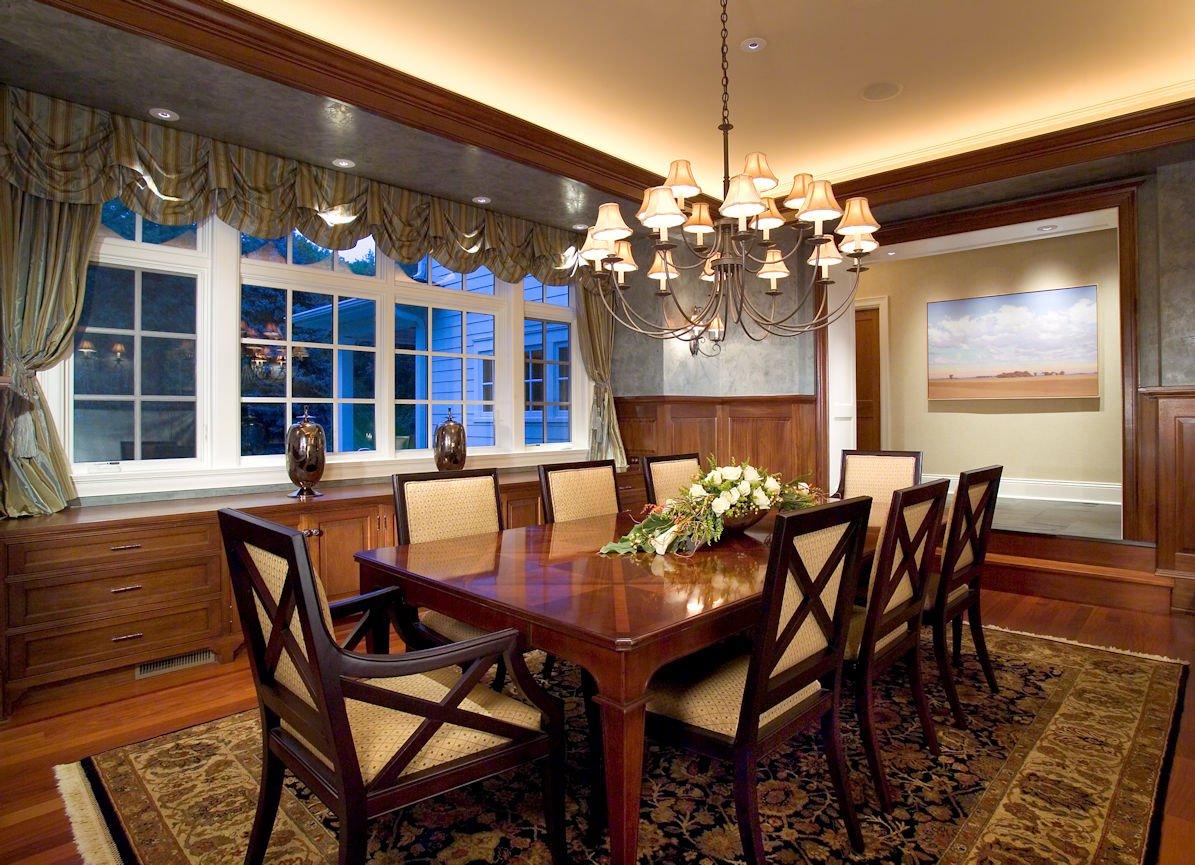 Orono Farmhouse dining room interior design by InUnison Design