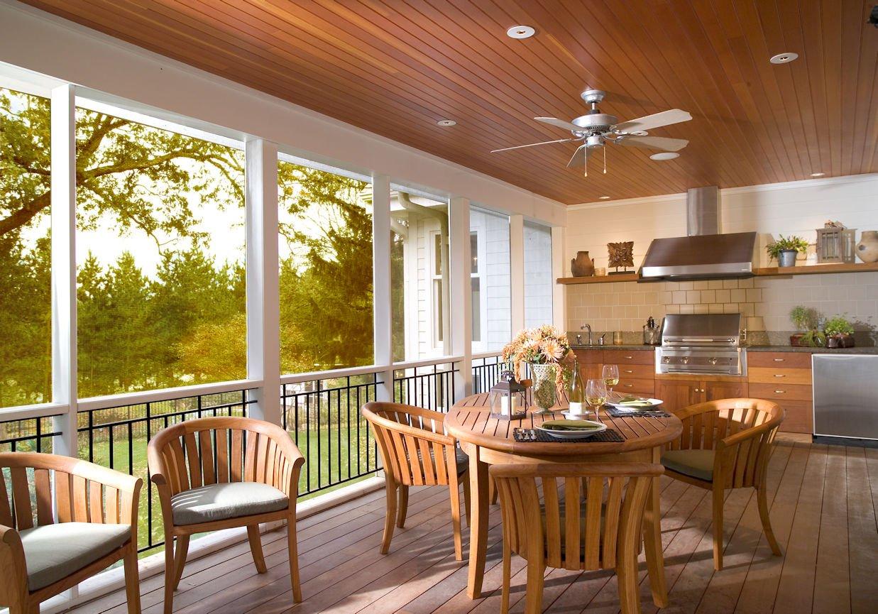 Orono Farmhouse sunroom interior design by InUnison Design