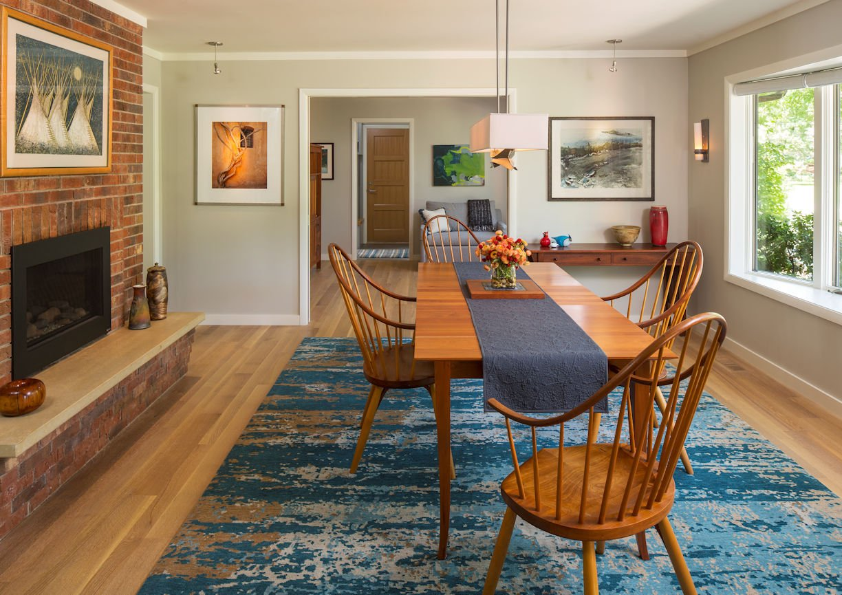 dining room in Rambler Reimagined by InUnison Design