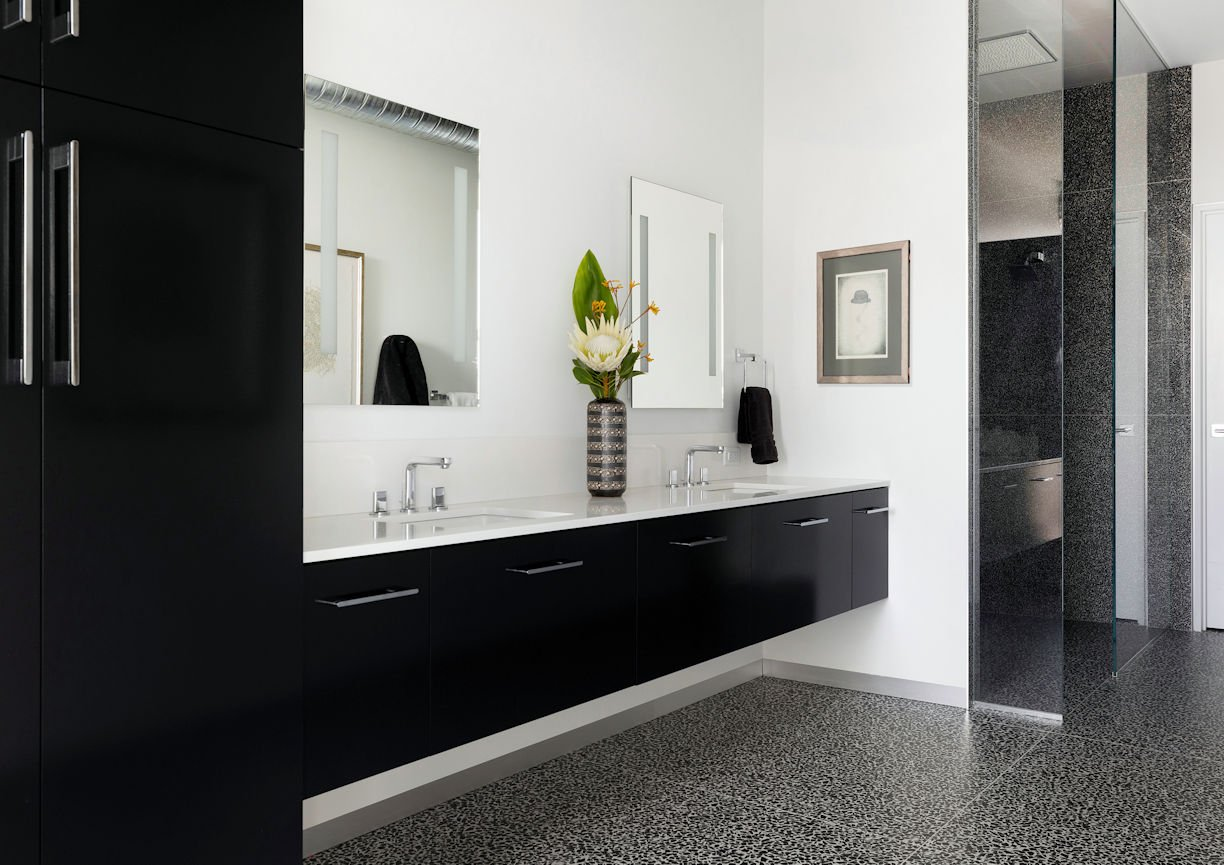 master bath in Rooftop Residence by InUnison Design and Christine Frisk