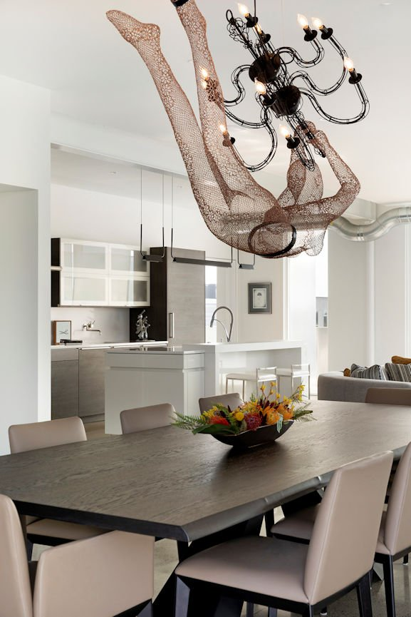 best chandelier ever is in the Rooftop Residence by InUnison Design and Christine Frisk