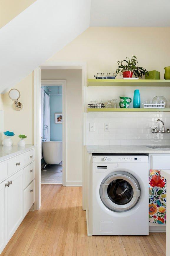 Scandinavian Urban Garden laundry room by InUnison Design