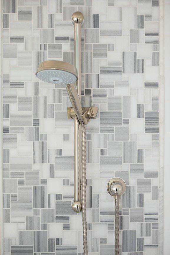 Scandinavian Urban Garden shower detail by InUnison Design