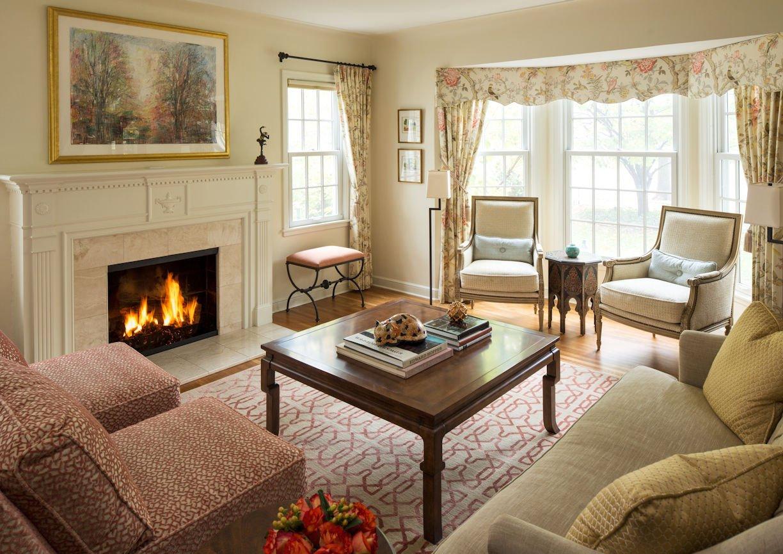 interior design for family room in St. Paul Residence by InUnison Design