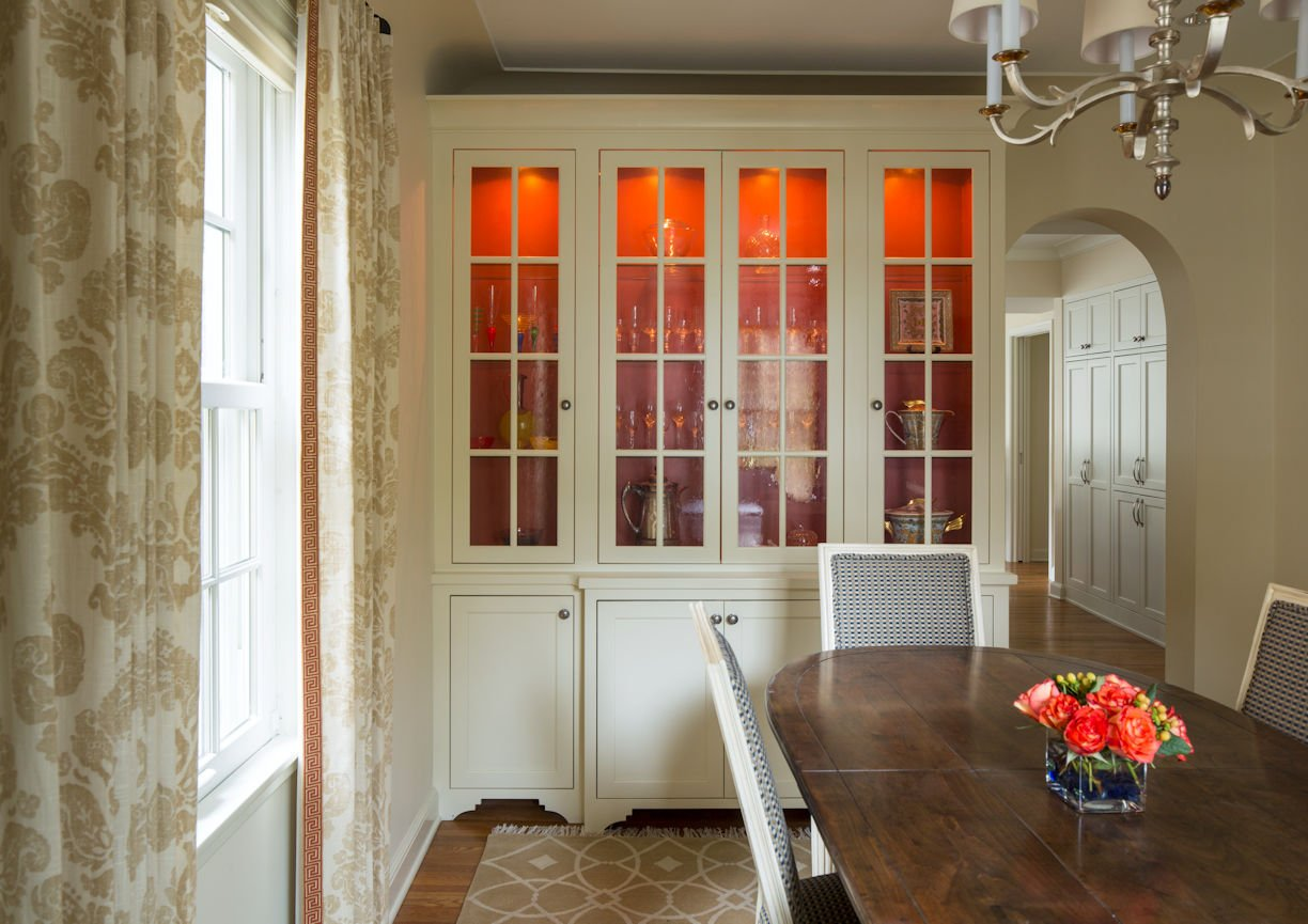interior design for dining room in St. Paul Residence by InUnison Design