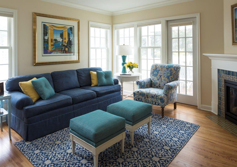 interior design for living room in St. Paul Residence by InUnison Design